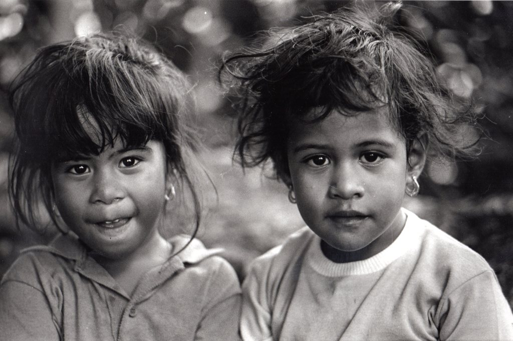 Frank Espada: Two Children in Guan