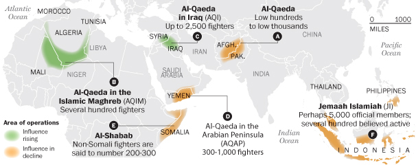 Al-Qaeda offshoots emerge in chaotic environments