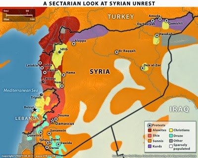 A Syrian sectarian map